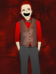 I drew me in a suit. by Mars-from-Mars