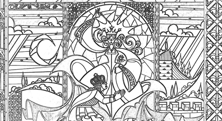Fairy Stained Glass Coloring Page by Richard67915