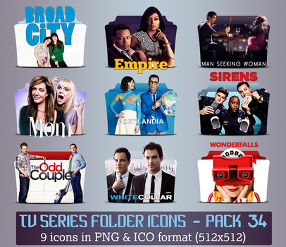 TV Series - Icon Pack 34 by apollojr