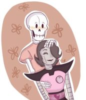 Undertale Shipping Month: Papyton (DAY FOUR) by SpangleSister