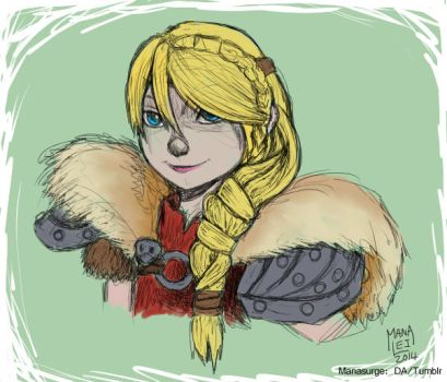 Astrid Sketch by Manasurge