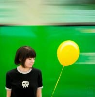 The Yellow Balloon by JilliD
