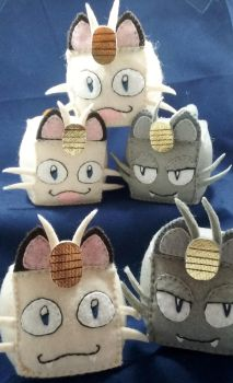 Pokecubes: Meowths by beanchan