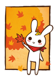 Autumn bunny by Yume-fran