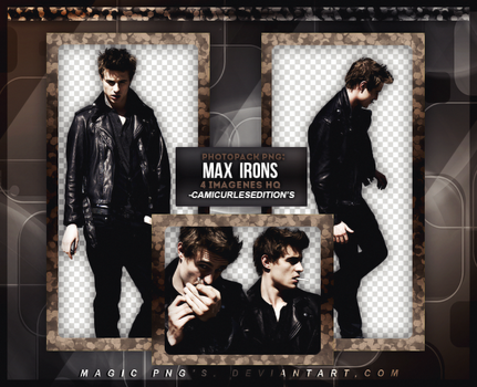 PACK PNG 99| MAX IRONS by MAGIC-PNGS