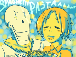 UT x APH: So Much Spaghetti (Commission) by DrGaster