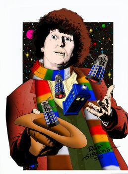 The Fourth Doctor by Dave Gibbons   Colourised by Cotterill23