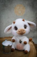 Cow Needle Felted by Lyntoys