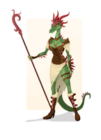 Character Concept: Serpent Queen by PhidippusOfMystery