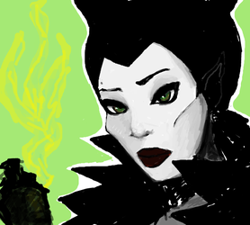 Malificent sketch by Aomi-Kaien