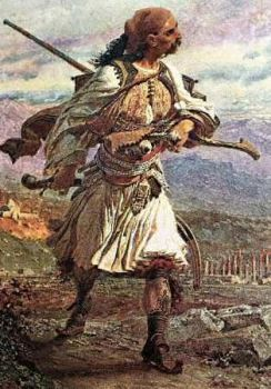The Albanian Warrior In 1800 by eduartinehistorise