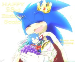 Happy 23rd Birthday, Sonic! by andreahedgehog