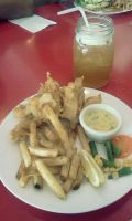 Fish and chips at Grams Diner. by marianner06