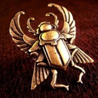 Steampunk Scarab Beetle Ring by Om-Society