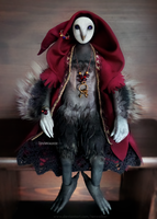 Wizard Faul (bjd anthro-owl) by TenWalker