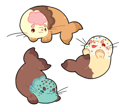 Ice Creamy Seals by toripng