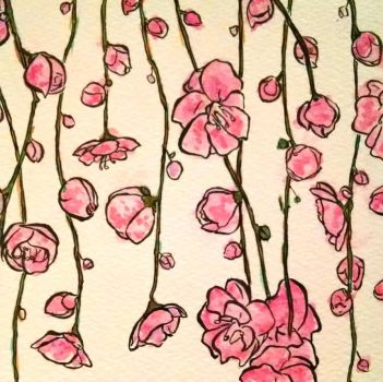 Inktober #3 - Cherry Blossoms by Coulterish