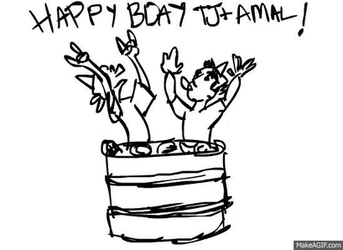 happy bday tj and amal (gif) by ThePinkTroll