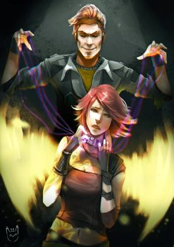 Handsome Jack and Lilith. by talitapersi