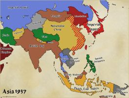 AltHist Asia Map 1937 by DaemonofDecay