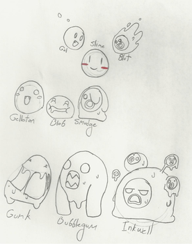 Monsters: Slimes 1 by DarkNecroMan1