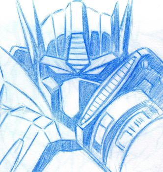 Optimus Prime monochrome by KBladez