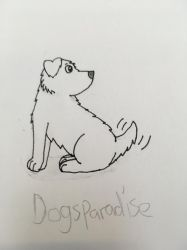 Puppy looking backwards (WIP) by Dogsparadise