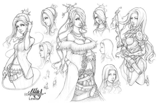 Dissidia Aces - Pencil by Ice-brand