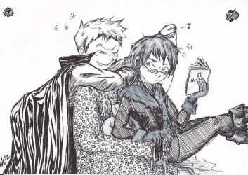 TRICKSTER AND HIS LITTLE GREEN GIRLFRIEND by LRaien