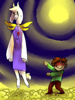 chara: *makes will smith hands at asriel* by girluver90