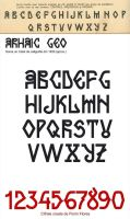Arhaic Geo - another font by FL0RINF