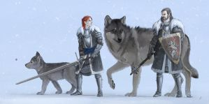 Lord Stark and his Heir by lucife56