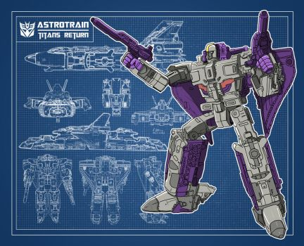 Blueprint Transformers Astrotrain (Titans Return) by archaznable30