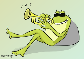 Grenouille Jazz by lephista