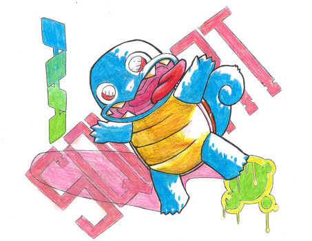 Spookymon #007 Squirtle by ErikServin