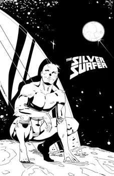 Silver Surfer inks by CRISTIAN-SANTOS