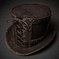 Steampunk top hat stylized old bronze. by ElBorodero