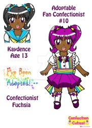C.C. Adoptable Revealed: Confectionist  Fuchsia by Magical-Mama