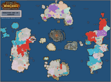 New Territory Map of Azeroth [[6.1]] by joeltopian