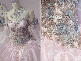 Champagne Pink Princess Gown Details by Firefly-Path