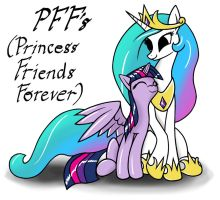 Princess Friends Forever by redmanepony