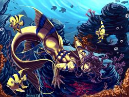 Speedpaint: AngelFish Merman by Chelsee