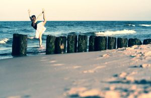 Ballerina On The Beach by PhotoYoung