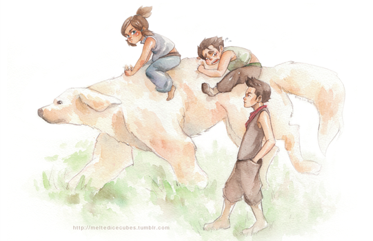 Korra - Childhood Playtime! by korilin