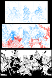 Vessels Variant Cover Triptych progression by rndmtask