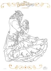 Beauty and the Beast coloring page by Dvythmsky