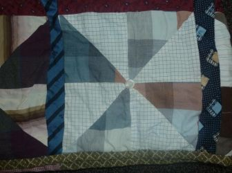 Pinwheel quilt FINISHED detail by BellaGBear