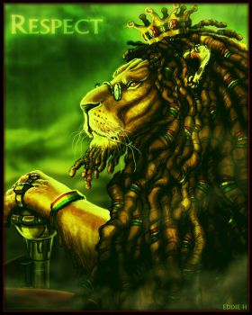 KING LION - RASTA by EddieHolly