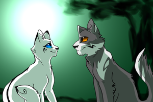 Snowfur and Thistleclaw by Urnam-BOT