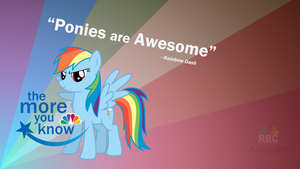 Rainbow Dash: The more you know. by AxemGR
